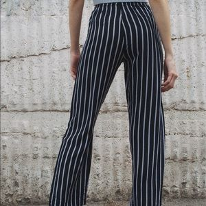 Brandy Melville navy white striped Frankie pant